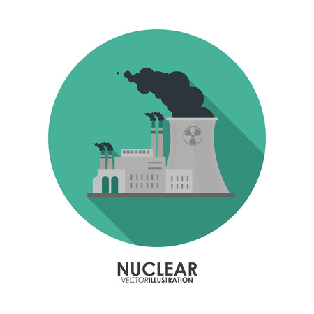clipart chimney: Nuclear concept with icon design, vector illustration 10 eps graphic.
