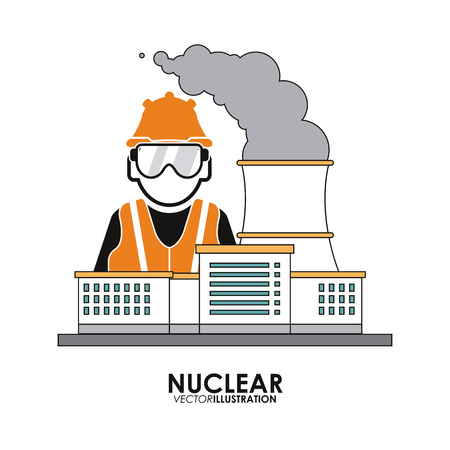 vector nuclear: Nuclear concept with icon design, vector illustration 10 eps graphic.