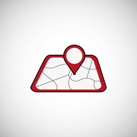 gps concept with icon design, vector illustration 10 eps graphic. Illustration