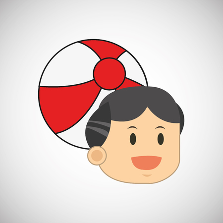 pool player: ball concept with icon design, vector illustration