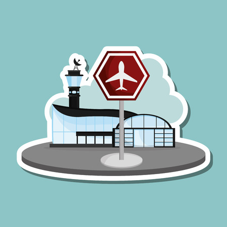 recreational: airport concept with icon design, vector illustration 10 eps graphic.