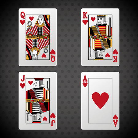 jack of hearts: Poker concept with icon design, vector illustration 10 eps graphic. Illustration