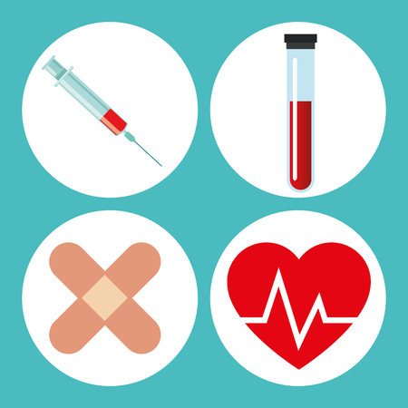 medical heart: Blood donation concept with icon design, vector illustration 10 eps graphic.