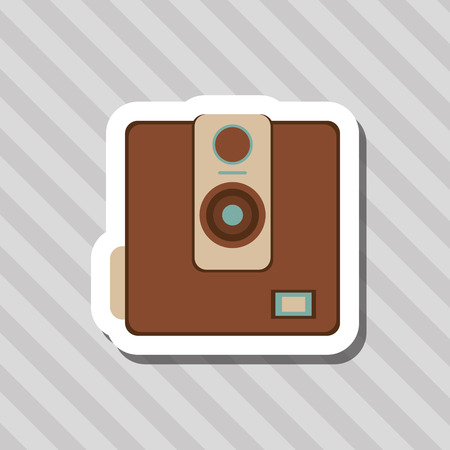 capturing: Retro concept with icon design, vector illustration 10 eps graphic.