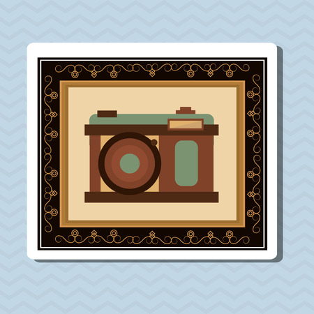 digicam: vintage camera concept with icon design, vector illustration 10 eps graphic.