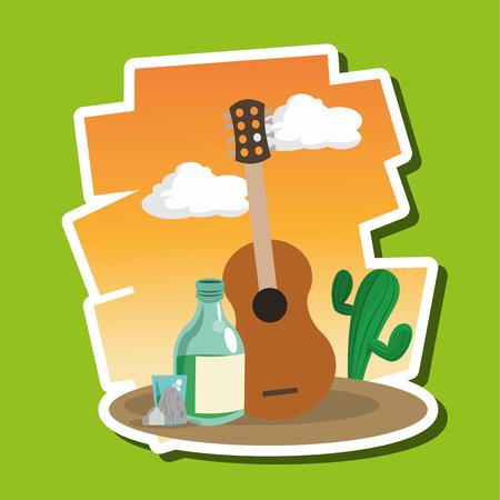 hispanics: mexican concept with icon design, vector illustration 10 eps graphic.