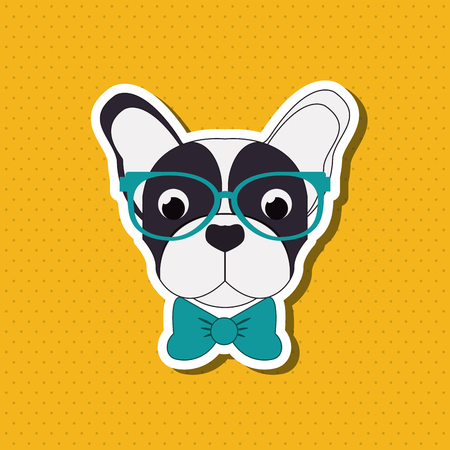 French bulldog concept with icon design, vector illustration 10 eps graphic. Ilustracja