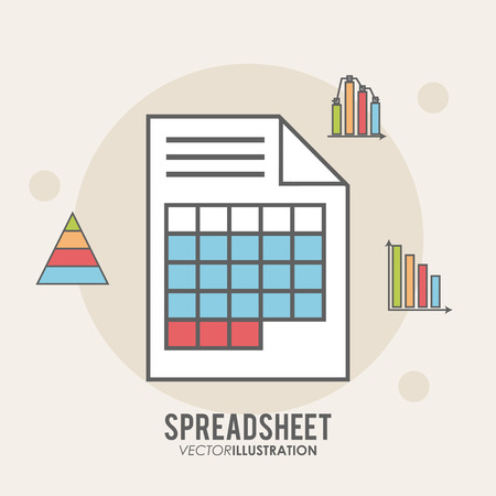 Spreadsheet concept with icon design, vector illustration 10 eps graphic. Illustration