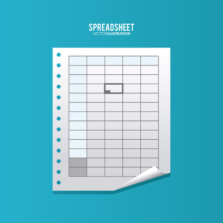 stock clipart icons: Spreadsheet concept with icon design, vector illustration 10 eps graphic. Illustration