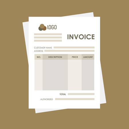 payable: Invoice concept with icon design, vector illustration 10 eps graphic.