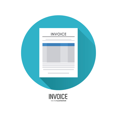 account form: Invoice concept with icon design, vector illustration 10 eps graphic.