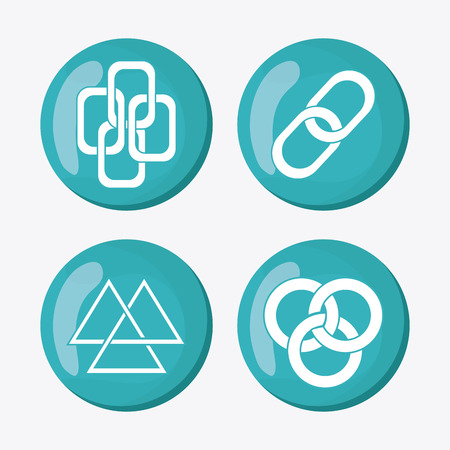 hyperlink: Link symbol concept with icon design, vector illustration 10 eps graphic.