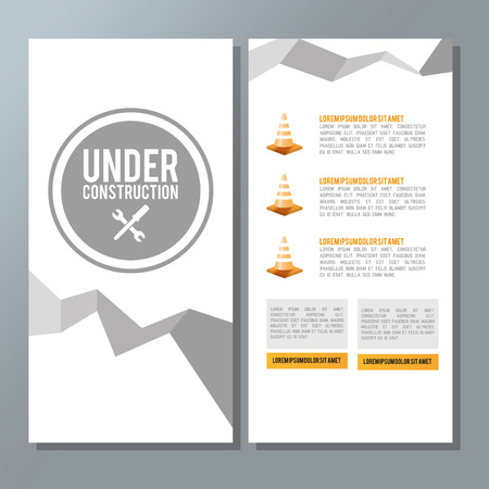 reconstruction: Under construction concept with icon design, vector illustration 10 eps graphic.
