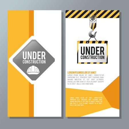 Sous le concept de construction avec le design d'icône, illustration vectorielle illustration 10 eps.
