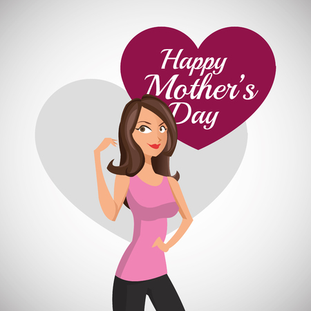 you are special: Happy Mothers day concept with icon design, vector illustration 10 eps graphic. Illustration