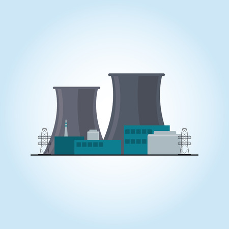 protected plant: Industrial security concept with icon design, vector illustration 10 eps graphic.