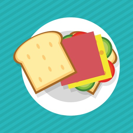 toasted sandwich: Sandwich concept with icon design, vector illustration 10 eps graphic. Illustration