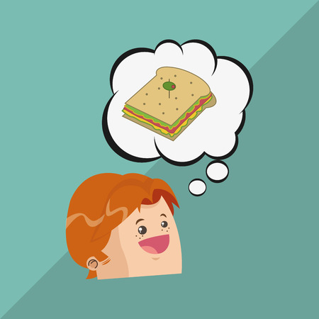 toasted: Sandwich concept with icon design, vector illustration 10 eps graphic. Illustration