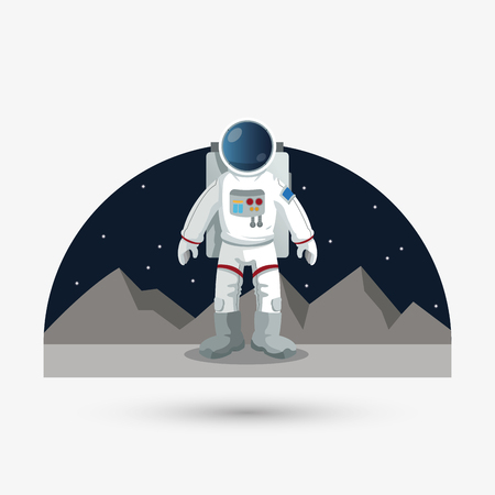 astral: Astronaut concept with icon design, vector illustration 10 eps graphic.