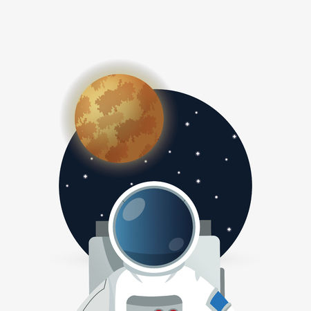 astral travel: Astronaut concept with icon design, vector illustration 10 eps graphic.