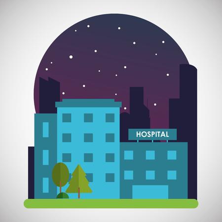 아이콘 디자인, EPS 10 그래픽 벡터 일러스트와 함께 병원 개념입니다.