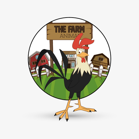 cultivated: Farm concept with icon design, vector illustration 10 eps graphic.
