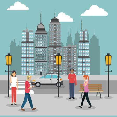 smart woman: Smart city concept with icon design, vector illustration graphic.