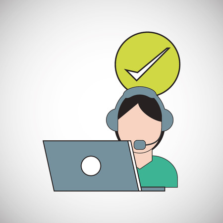 image consultant: Call center concept with icon design, vector illustration Illustration