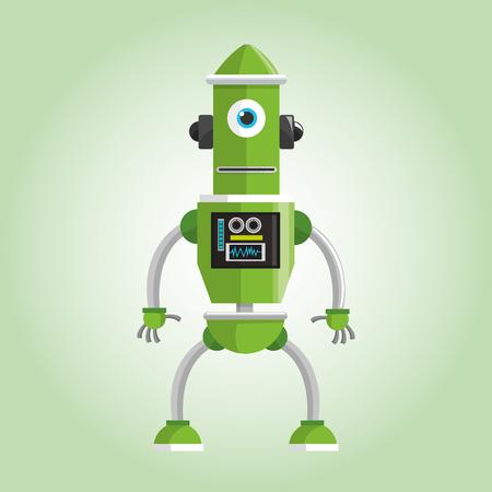 concepto de robot con diseño de iconos, ilustración vectorial eps 10 gráfico.