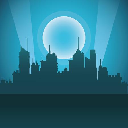 moon  metropolis: City concept with icon design, vector illustration 10 eps graphic.