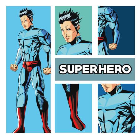 mantle: Superhero concept with icon design, vector illustration 10 eps graphic. Illustration