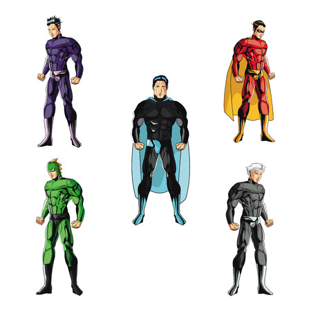 Superhero concept with icon design, vector illustration 10 eps graphic. Vettoriali