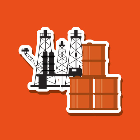 petrochemical plant: Petroleum concept with icon design, vector illustration 10 eps graphic.