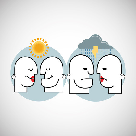 different thinking: Creative mind concept with icon design, vector illustration 10 eps graphic. Illustration