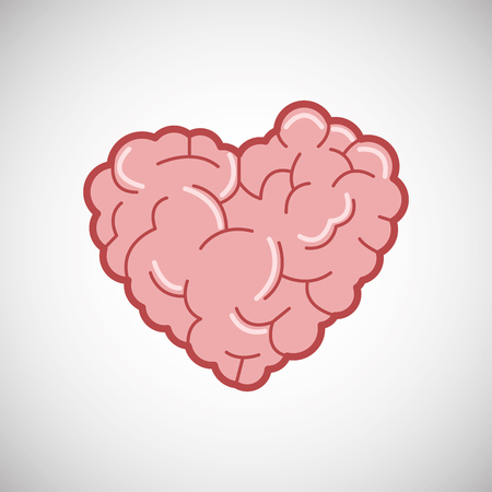 heart intelligence: Creative mind concept with icon design, vector illustration 10 eps graphic. Illustration