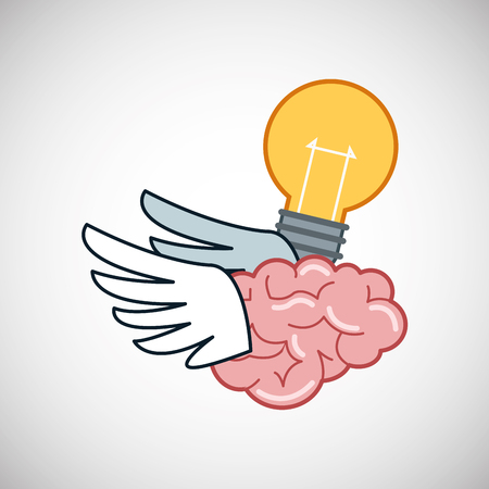 contemplate: Creative mind concept with icon design, vector illustration 10 eps graphic. Illustration