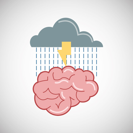 emotional pain: Negative feeling concept with icon design, vector illustration 10 eps graphic.