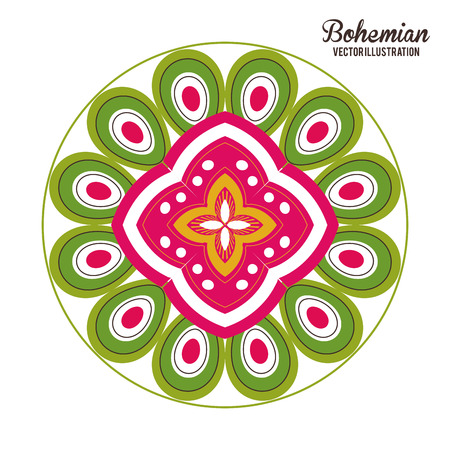 bohemian: Bohemian concept with icon design, vector illustration 10 eps graphic. Illustration