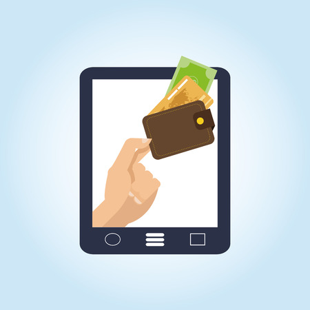 paying bills online: Money concept with icon design, vector illustration 10 eps graphic.