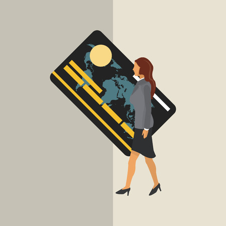credit card business woman: Business concept with icon design, vector illustration 10 eps graphic.