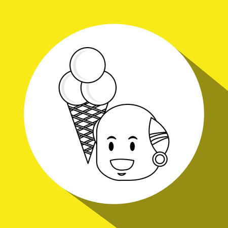 creme: ice cream concept with icon design, vector illustration 10 eps graphic.