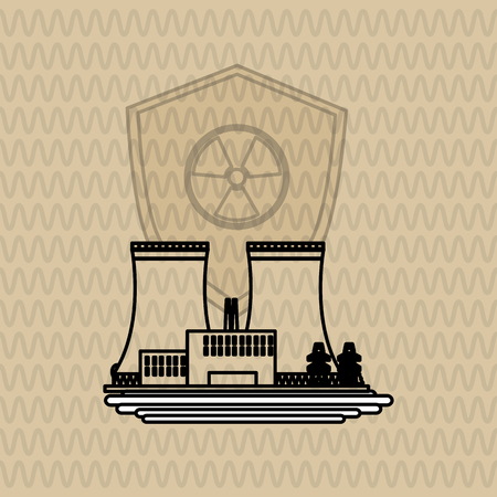 detection: Industrial security concept with icon design, vector illustration 10 eps graphic.