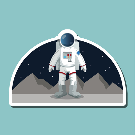 stellar: Astronaut concept with icon design, vector illustration 10 eps graphic.