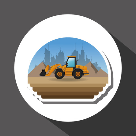 in the reconstruction: Under construction concept with icon design, vector illustration 10 eps graphic.