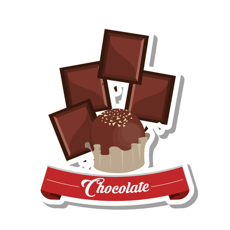 chocolate truffle: Chocolate concept with icon design, vector illustration 10 eps graphic.