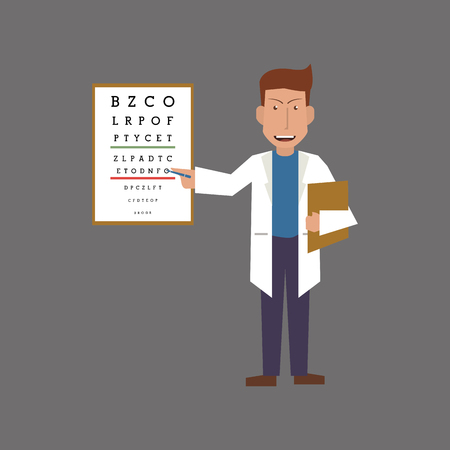 eye exams: Doctor concept with icon design, vector illustration 10 eps graphic. Illustration