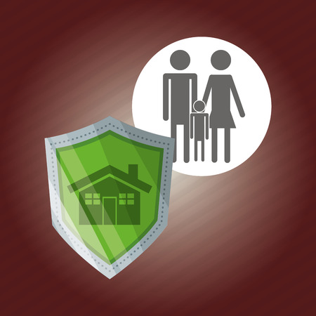 home value: Security concept with icon design, vector illustration 10 eps graphic.