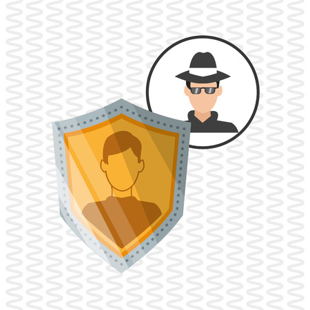 dangerous man: Security concept with icon design, vector illustration 10 eps graphic.