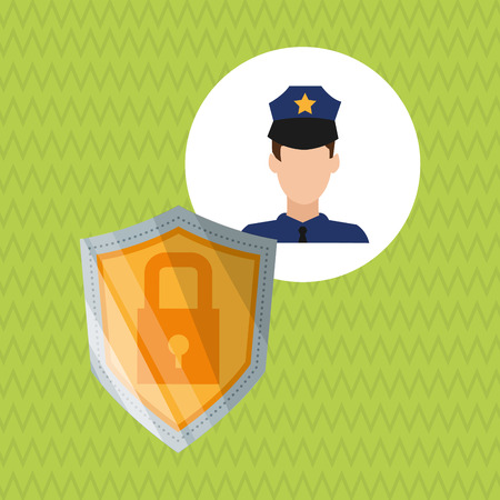 risky: Security concept with icon design, vector illustration 10 eps graphic.