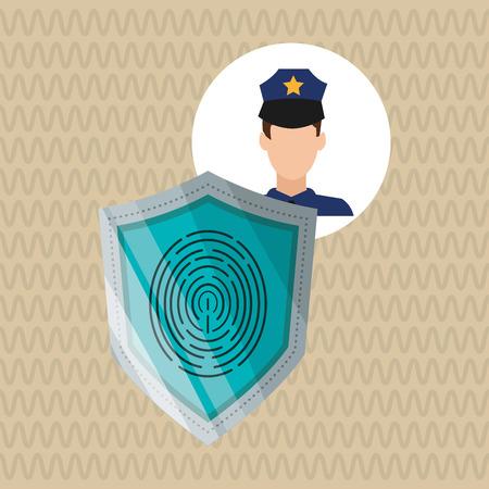Concept de sécurité avec l'icône de conception, illustration vectorielle 10 eps graphique.